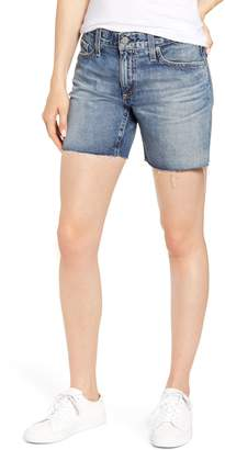 AG Jeans Becke Relaxed Fit Raw Hem Denim Cutoff Shorts