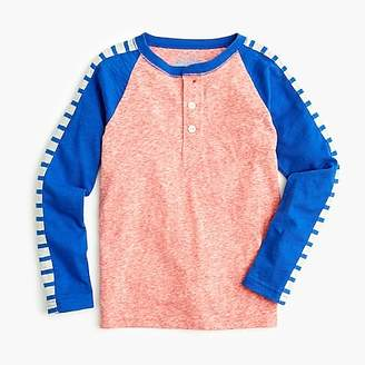 J.Crew Boys' colorblock henley shirt with stripes
