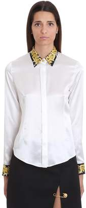Versace Shirt In White Silk
