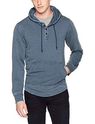 Lucky Brand Men's Venice Burnout Hooded Sweatshirt