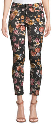 7 For All Mankind Jen7 by Rainbow Blooms Floral Ankle Skinny Jeans