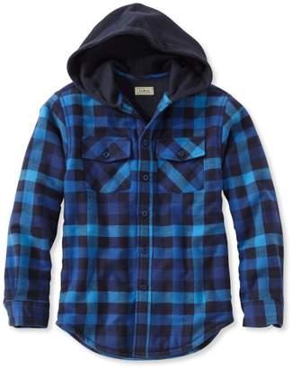 L.L. Bean L.L.Bean Boys' Fleece-Lined Hooded Flannel Shirt