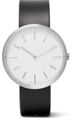 Uniform Wares M37 Brushed Stainless Steel and Rubber Watch