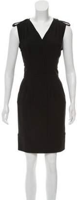 Fendi Sleeveless Knee-Length Sheath Dress Black Sleeveless Knee-Length Sheath Dress