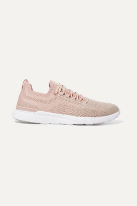 APL Athletic Propulsion Labs Techloom Breeze Metallic Mesh Sneakers - Blush