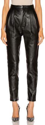 Saint Laurent Leather Pant in Black | FWRD