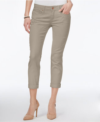 Dollhouse Juniors' Colored Wash Cropped Skinny Jeans $44 thestylecure.com