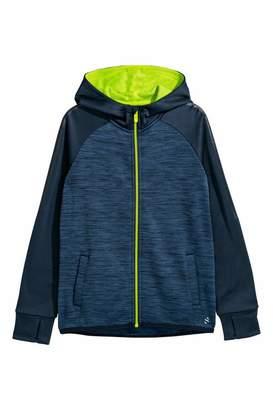 H&M Hooded Sports Jacket - Dark blue melange - Kids