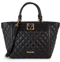 Love Moschino Diamnd Quilted Tote Bag