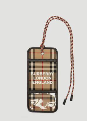 Burberry Vintage Check Card Holder in Beige