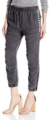 Pam & Gela Women's Cargo Pant with Zips