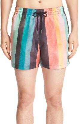 Men's Paul Smith Classic Stripe Swim Trunks $160 thestylecure.com