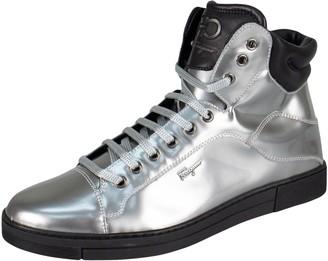 Salvatore Ferragamo Silver Patent leather Trainers