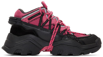 Kenzo Pink and Black Inka Sneakers