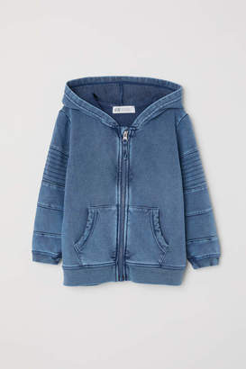 H&M Washed Hooded Jacket - Blue washed out - Kids