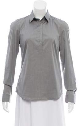 Akris Long Sleeve Button-Up Top