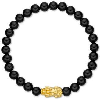 Chow Tai Fook Chalcedony Bead Bracelet With 24k Gold Charm