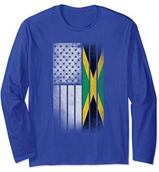 Jamaican American Flag Jamaican Flag Long Sleeve Shirt