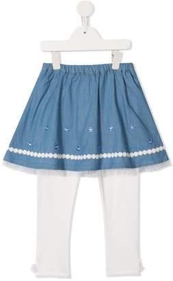 Mikihouse Miki House layered legging skirt