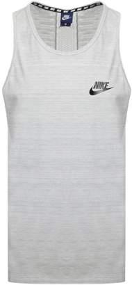 Nike Logo Vest T Shirt Grey