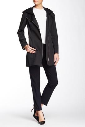 Soia & Kyo Asymmetric Zip Rain Jacket $295 thestylecure.com