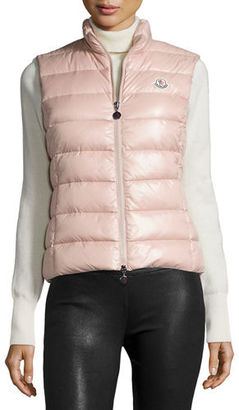 Moncler Ghany Zip Puffer Vest $540 thestylecure.com