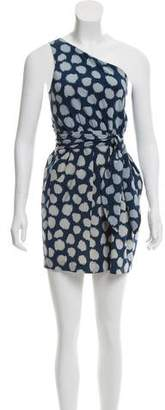 Theory One-Shoulder Polka Dot Dress