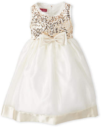 Princess Faith (Girls 4-6x) Sequin Bow Organza Dress