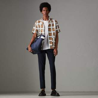 Burberry Short-sleeve Painted Vintage Check Cotton Shirt