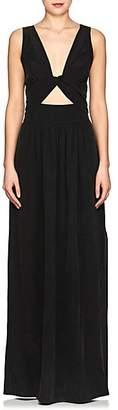 L'Agence WOMEN'S SILVANO SILK CRÊPE DE CHINE MAXI DRESS