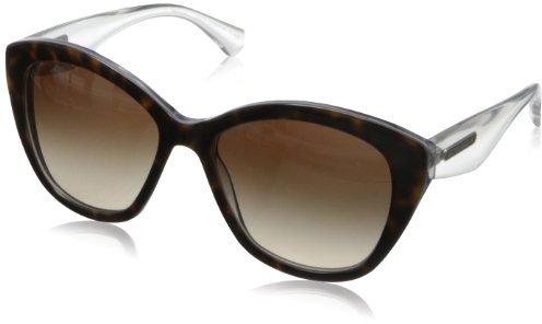 Dolce & Gabbana Women's 3 Layers Square Sunglasses,Havana & Pearl White & Cyryst,55 mm