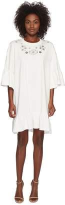 McQ Loose Ruffle Tee Dress Women's Clothing