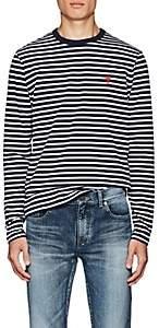 Ami Alexandre Mattiussi Men's Striped Cotton T-Shirt - Navy