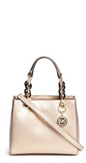 MICHAEL Michael Kors Michael Kors 'Cynthia North South' small leather satchel