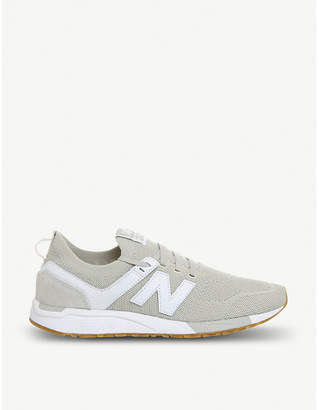 New Balance 247 leather-panelled stretch-knit trainers