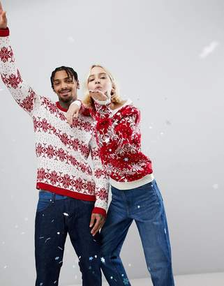 Asos Christmas Jumper With Snowflake And Tree