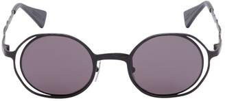 Double Round Metal Matte Sunglasses