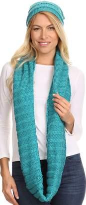Sakkas 16141 - Sayla Rhinestone Jewel Soft Warm Woven Cable Knit Beanie Hat And Scarf Set - OS