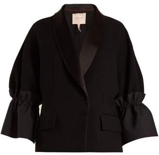 Roksanda Zenitha Gathered Detailed Jacket - Womens - Black