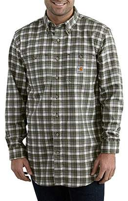 Carhartt Men's B&t Flame Resistant Classic Plaid Long Sleeve Woven Shirt