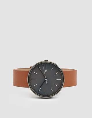 Uniform Wares M40 PreciDrive Date Watch in PVD Grey/Tan