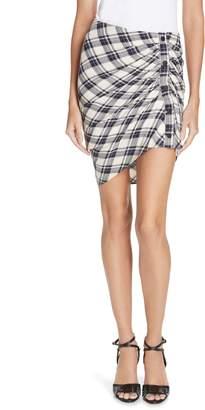 Veronica Beard Murphy Ruched Miniskirt