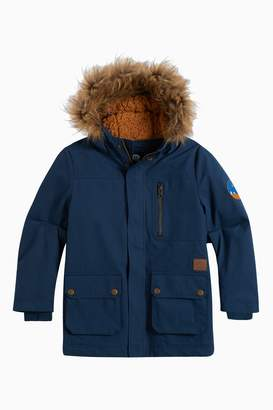 Next Boys Animal Navy Pole Wadding Sherpa Jacket