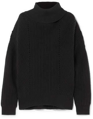 Nili Lotan Keiran Ribbed Cashmere Turtleneck Sweater - Black