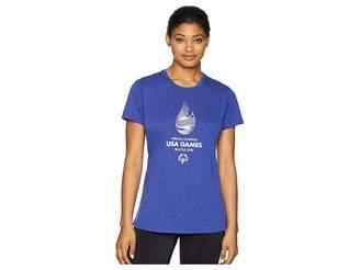 Brooks USA Games Event Short Sleeve Women's Clothing
