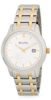 Bulova Two-Tone Stainless Steel Link Bracelet Watch