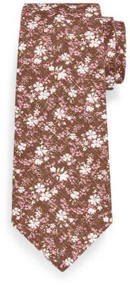 Isaia Floral-Print Silk-Cotton Tie $225 thestylecure.com