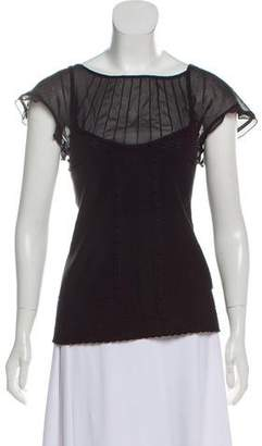 Philosophy di Alberta Ferretti Knit Short Sleeve Top