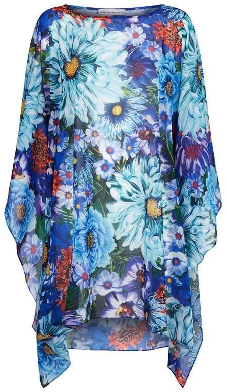Floral Print Beach Poncho