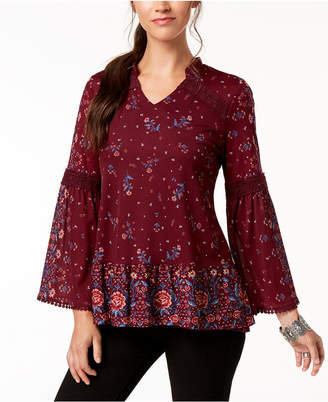 Style&Co. Style & Co Petite Floral-Print High-Low Tunic, Created for Macy's